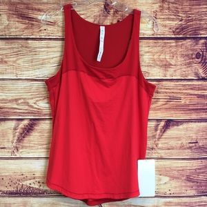 NWT Lululemon Athletica Red Workout Tank